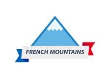 Логотип с иллюстрацией высокогорной горы Стоковая Фотография RF