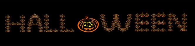 Логотип слова хеллоуина стоковая фотография rf