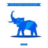 Логотип слона с рефлюксом и низкой поли геометрией Стоковые Фотографии RF