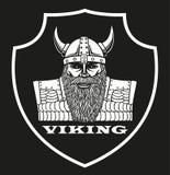 Логотип с портретом Викинга Стоковые Фото