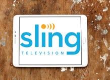 Логотип ТВ слинга Стоковое Изображение