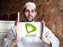 Логотип телекоммуникационной компании Etisalat Стоковое Изображение RF