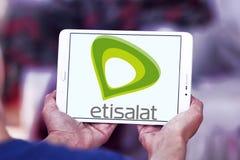 Логотип телекоммуникационной компании Etisalat Стоковые Фотографии RF