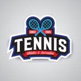 Логотип тенниса, значок, шаблон дизайна Стоковые Фотографии RF