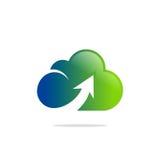Логотип технологии облака покрашенный загрузкой Стоковое Фото