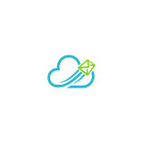 Логотип технологии средств массовой информации почты облака Стоковые Изображения RF