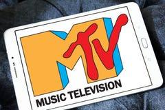 Логотип телевидения музыки Mtv Стоковые Фото