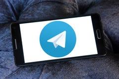 Логотип телеграммы Стоковое Изображение RF