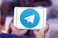Логотип телеграммы Стоковое Изображение