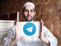 Логотип телеграммы Стоковые Изображения