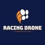 Логотип трутня гонок Стоковая Фотография RF