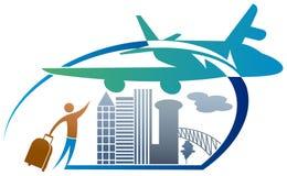 Логотип туризма Стоковые Изображения