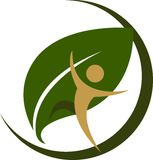 Логотип туризма Eco Стоковые Изображения RF
