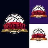 Логотип турнира цвета баскетбола Стоковые Фотографии RF