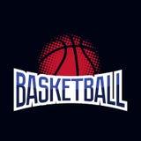 Логотип турнира цвета баскетбола Стоковые Изображения RF