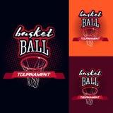 Логотип турнира цвета баскетбола Стоковое Изображение