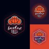 Логотип турнира цвета баскетбола Стоковое Изображение RF