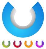 Логотип дуги значок круга 3d, круговой элемент бесплатная иллюстрация