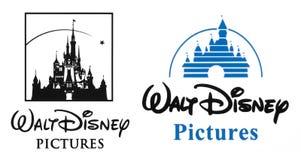 Логотип Уолт Дисней стоковые фотографии rf