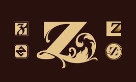 Логотип установленный с письмом z Стоковые Изображения RF