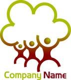 Логотип фамильного дерев дерева Стоковые Изображения