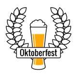Логотип фестиваля пива, изолированный знак вектора стоковое изображение rf