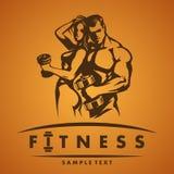 Логотип фитнеса Стоковые Изображения