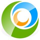 Логотип, форма с 3 кругами - спираль значка, логотип вортекса Стоковое Фото