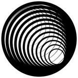 Логотип, форма с 3 кругами - спираль значка, логотип вортекса Стоковое Изображение