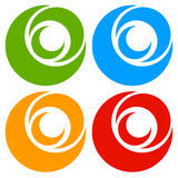 Логотип, форма с 3 кругами - спираль значка, логотип вортекса Стоковая Фотография