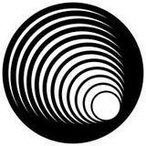 Логотип, форма с 3 кругами - спираль значка, логотип вортекса Стоковое фото RF