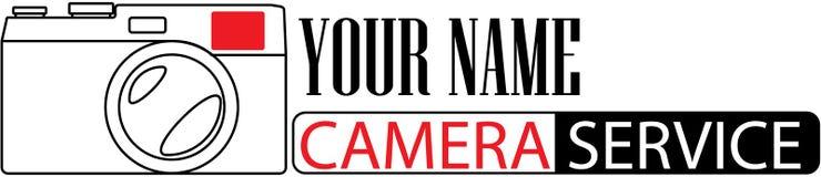 Логотип фотографа для дизайна или вебсайта Стоковые Фотографии RF