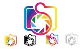 Логотип фотографии значка камеры стоковое фото rf
