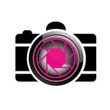 Логотип фотографии цифровой камеры Стоковое Изображение RF