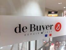 Логотип французской компании De Покупателя стоковая фотография rf