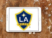 Логотип футбольного клуба галактики Лос-Анджелеса Стоковые Фото