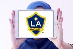 Логотип футбольного клуба галактики Лос-Анджелеса Стоковое Изображение