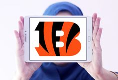 Логотип футбольной команды Цинциннати Bengals американский Стоковая Фотография