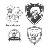 Логотип футболиста Стоковое фото RF