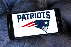 Логотип футбольной команды патриотов Новой Англии американский Стоковое фото RF