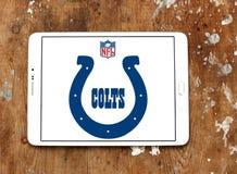 Логотип футбольной команды Indianapolis Colts американский Стоковое Фото
