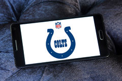 Логотип футбольной команды Indianapolis Colts американский Стоковая Фотография