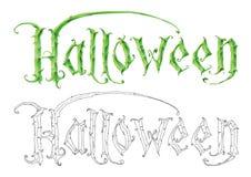 Логотип хеллоуина Стоковые Фотографии RF