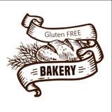 Логотип хлеба с лентами Стоковые Фото