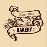 Логотип хлеба с лентами Стоковые Изображения RF