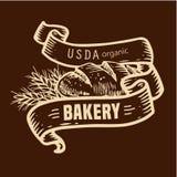 Логотип хлеба с лентами Стоковая Фотография
