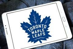 Логотип хоккейной команды листьев клена Торонто Стоковые Фотографии RF