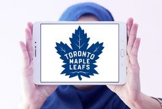 Логотип хоккейной команды листьев клена Торонто Стоковое фото RF