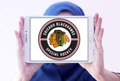 Логотип хоккейной команды Чикаго Blackhawks Стоковые Изображения RF