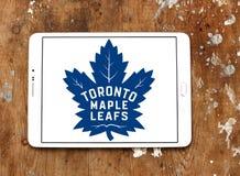 Логотип хоккейной команды листьев клена Торонто Стоковое Фото